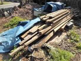Job lot of second hand timber 3 x 2, 4 x 2 & 4 x 3