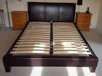 Faux Leather Kingsize Bed Frame