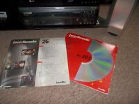 pioneer karaoke laserdisc player with laserdiscs and new mic