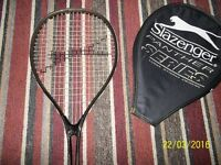 2 X SLAZENGER SERIES 400 PANTHER MATCH LONG STRING DESIGN SQUASH RACQUETS
