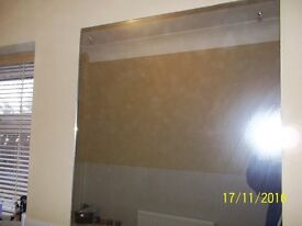 HUGE SQUARE (75.5CMS X 70CMS) FRAMELESS MIRROR GYM/BATHROOM/BEDROOM/ANYWHERE