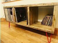 Beautiful handmade vinyl storage unit / tv stand / side unit