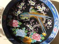 Large Antique Vintage Japanese Birds Plate