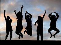 Lively friends, women, socials