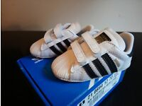 Adidas Superstar Mesh baby Trainers Size 2 (6-9 months)