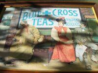 Vintage Wall Picture blue C ross ,Edwardian Art Deco Picture