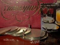 vintage silver plate 7pc coaster set great for christmas