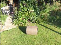 heavy, old cast iron garden roller