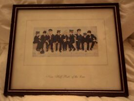 Police memorabilia Framed Mounted Print. Nine Half Pints of the Law Lawson Wood Picture