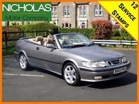 2003 SAAB 9-3 CONVERTIBLE SE TURBO /APRIL 2018 MOT /SERVICE HISTORY /LEATHER /CLIMATE /PART EX /93