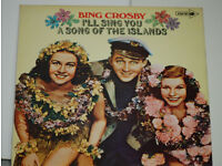 Bing Crosby I'll Sing You A Song of The Islands LP. Record in excellent condition.