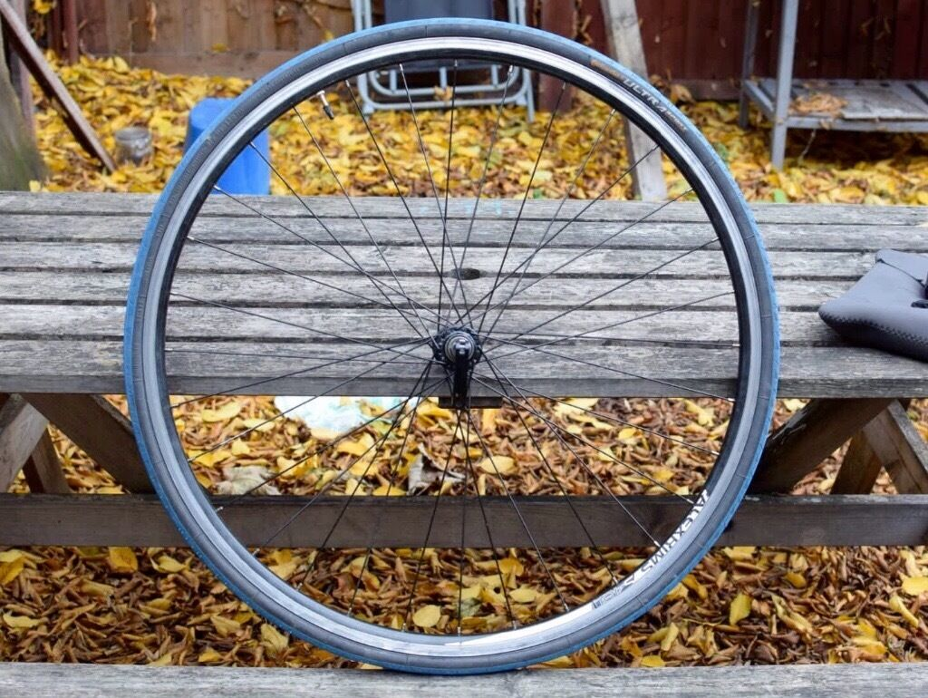 Front Wheel Alex Rims S480 with Continental Ultra Sport Tires 23 622 (700x23in Plaistow, LondonGumtree - Hi, Im selling a 700x23 front wheel with blue Continental tires, its used but thats a lot of life left. Im selling cheap so fixed price. It was from my beloved bike that was stolen few weeks ago. If you have any question please feel free to contact...