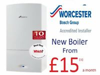 Worcester Bosch boiler from £15a month
