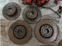 Alfa 147/156/GT Ducati Corsa Red Brake Calipers + Discs Rear Grooved/Drilled