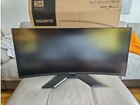 """Gigabyte G34WQC Curved 34"""" Ultrawide monitor(3440 x 1440) 144Hz 1ms FreeSync/G-Sync Compatible"""