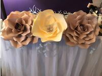 Giant Paper Flower Decor - all budgets - bespoke and basic