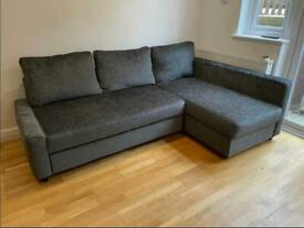 FREE DELIVERY IKEA FRIHETEN DARK GREY CORNER SOFA BED WITH STORAGE GREAT CONDITION