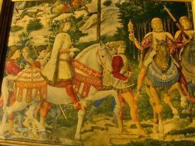 Antique Wall Picture Procession of the Magi by Benozzo Gozzoli