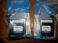 BRAND NEW 2 X ALPHAJET REPLACEMENT INK JET CARTRIDGES