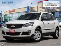 2014 Chevrolet Traverse LS, 8 PASSENGER WITH ALL WHEEL DRIVE