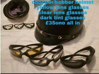 Cruiser Helmet and glasses