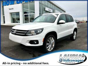 2013 Volkswagen Tiguan 2.0 TSI Highline 4Motion AWD - 1 owner