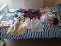 Bundle of girls clothes 3-12 months