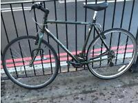 Green 21 inch hybrid bicycle Raleigh for sale or swap for iPhone 6 or iPad Air