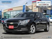 2015 Chevrolet Malibu LT MYLINK 7 COLOUR TOUCH SCREEN WITH BLUET