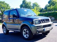 Suzuki Jimny 1.3 JLX+ 3dr 4WD, Very low mileage, lovely condition, M.O.T. till July 2017