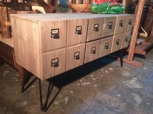 Commode Armoire Buffet Console Bois Acier -Indonésie // Steel Wood Cabinet Sideboard Chest with drawers -Indonesia