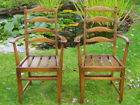 A Pair of Ercol 715a Dining Chairs in Original Golden Dawn, Del Poss