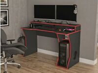 Birlea Enzo Black and Red Gaming Computer Desk
