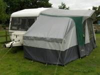 Caravan awning with optional bedroom
