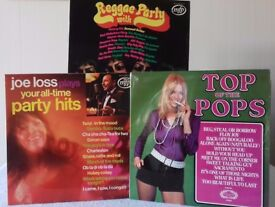 3 LPs - Reggae Party with Bob Marley and more; Top of the Pops Vol 23; Joe Loss Party Hits