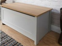 GFW Lancaster Grey and Oak Storage Box (Flat Packed)