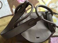 Hermes Lindy 30cm Etoupe Grey Togo Leather Bag Silver Hardware