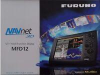 "Furuno MFD12 NavNet-3D 12"" Marine GPS Navigator Chartplotter Fish Finder Radar"
