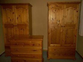 Beautiful Bedroom Furniture set, 2 wardrobes 2 bedside cabinets and chest of drawers