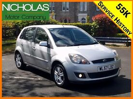 2008 FORD FIESTA 1.25 ZETEC CLM 5DR /LOW MILES /S. HISTORY + CAMBELT /AIR CON /PART EX /WARRANTY