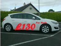 2014 Vauxhall Astra 1.7Cdti Design, In White, Free tax.