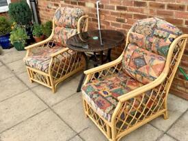 Rattan/Cane Chairs x 2
