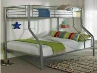 🔵💖DECORE YOUR DREAM🔵🔴kids bed/Trio Metal Bunk Bed Frame-optional mattress-call now