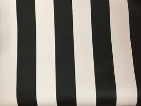 Graham & Brown Superfresco Easy Rayure Black and White Stripe Wallpaper