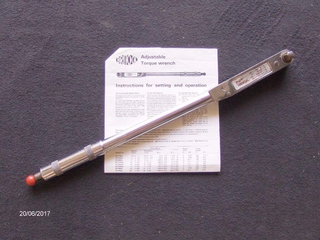 Britool EVT1200A Torque Wrench.