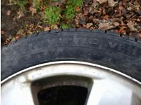 Alloy wheel with new tyre