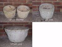 Concrete Garden Planters in excellent condition
