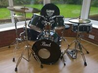 Pearl Export Series Drum Kit with cymbals and hardware