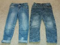 2 pairs of jeans 3-4 years 104cm