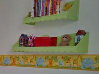 Wall Shelves for Children's Bedroom - Set of 2